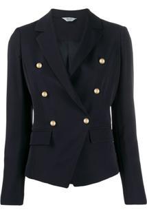 Liu Jo Tailored Double Breasted Blazer - Azul