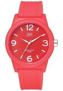 Relógio Feminino Q&Q Analógico - Vr35J013Y - Feminino-Vermelho