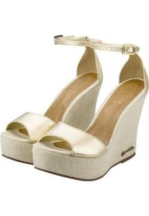 Sandália Barth Shoes Lazuli Feminina - Feminino-Dourado