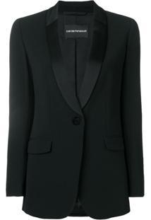 Emporio Armani Blazer Com Botões - Preto