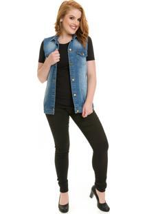 Colete Coleteria Jeans Azul