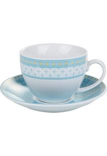 Conjunto Xícaras Para Chá Barcelona De Porcelana 6 Peças 200 Ml - Unissex