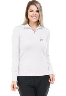 Camisa Térmica Para Frio Com Gola Alta Extreme Uv - Feminino-Branco