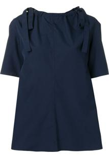 Marni Blusa Mangas Curtas - Azul