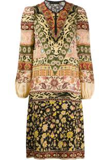 Etro Short Print Mix Dress - Neutro