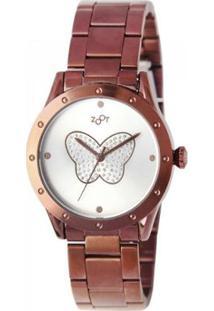 Relógio Feminino Zoot Butterfly Zw10078-N - Feminino