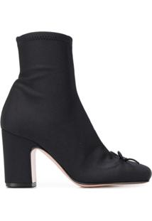 Red Valentino Red(V) Sock-Style Ankle Boots - Preto