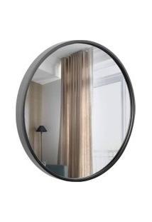 Espelho Decorativo Round Externo Preto 40 Cm Redondo