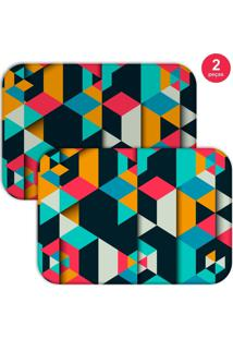 Jogo Americano Love Decor Colorful Polygonal Colorido