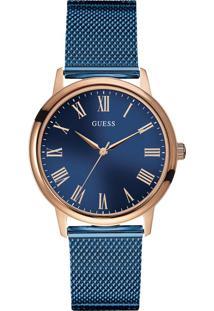 Relógio Guess Feminino Aço Azul - W0280G6