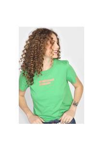 Camiseta Colcci Attitude Verde