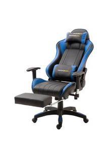 Cadeira Office Xsx Em Courino Preto E Azul - 53538 Preto E Azul
