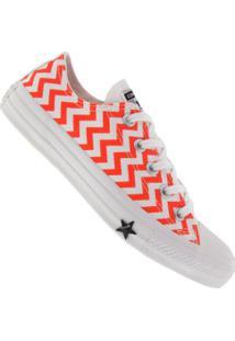 Tênis Converse All Star Chuck Taylor Core Ct1328 - Feminino - Branco/Vermelho