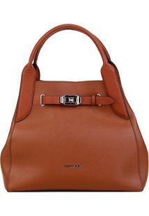 Bolsa Ellus Shopping Bag Military Feminina - Feminino-Caramelo