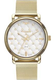 Relógio Technos Feminino Trend Analógico Dourado 2039Co4K - Kanui