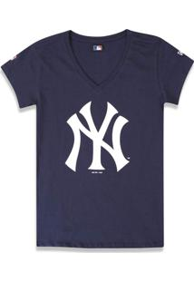 T-Shirt New Era Baby Look New York Yankees Marinho