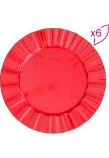 Jogo De Sousplat Cook- Vermelho- 6Pçs- Bon Gourmbon Gourmet