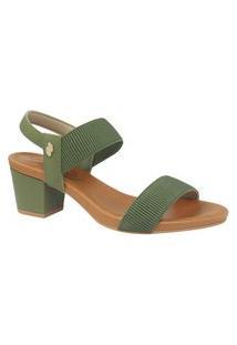 Sandalias Com Elástico Usaflex Verde Militar Y8204
