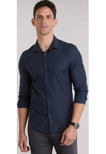 Camisa Slim Azul Marinho