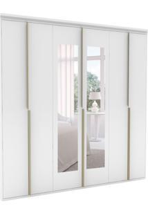Guarda-Roupa Casal Com Espelho Sonhare Ll 6 Pt Branco