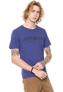 Camiseta John John Lettering Azul