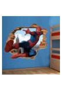 Adesivo De Parede Buraco Falso 3D Homem Aranha 02 - Eg 100X122Cm