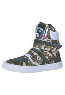 Sneaker Fitness Cheia De Marra 1001 Camuflado