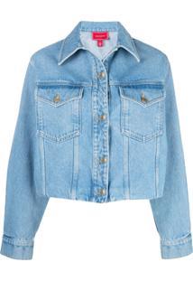 Hilfiger Collection Jaqueta Jeans Dupla Face - Azul