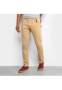 Calça Jeans Ellus 2Nd Floorjogging Color (Phil) Masculina - Masculino-Caramelo