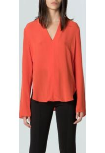 Camisa Desconstructed Silk-Coral - P