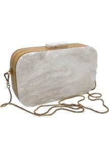 Bolsa La Madame Co Clutch Retangular White