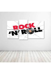Quadro Decorativo - Rock'N Roll - Composto De 5 Quadros