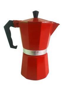 Cafeteira Italiana Para 6 Cafezinhos - Vermelha - Mimo Style