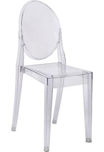 Cadeira De Jantar InvisãVel Sem Braã§O- Incolor- 90,5Or Design