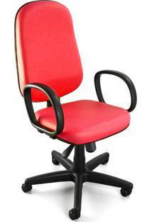 Cadeira Giratória Presidente C/ Relax E C/ Braços Corano Vermelho