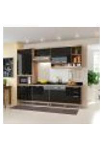Cozinha Compacta Sicília 11 Pt 3 Gv Argila E Preta