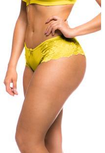 Calcinha Sempre Sensual Renda Amarelo