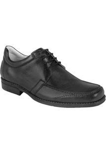 Sapato Social Couro Derby Sandro Moscoloni Trump Masculino - Masculino-Preto