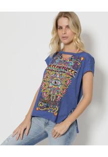 Camiseta Com Vazado - Azul & Amarela - Tritontriton