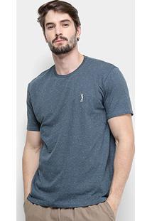 Camiseta Aleatory Estampada Masculina - Masculino-Marinho