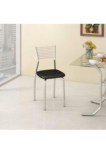 Cadeira De Aço Barcelona C123 Compoarte Cromado