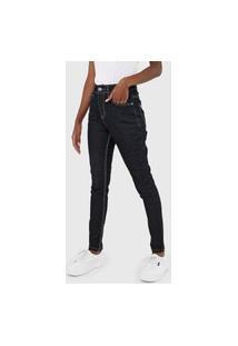 Calça Jeans Aeropostale Skinny Pespontos Azul-Marinho