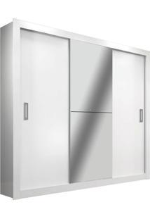 Guarda-Roupa Casal Com Espelho Amapá 3 Pt Branco