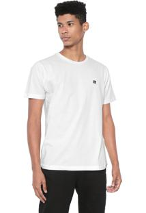 Camiseta Quiksilver Slim Fit Slim Transfer Off-White