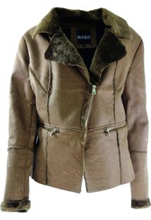Casaco Infinity Fashion Bela Blus Caramelo Marrom
