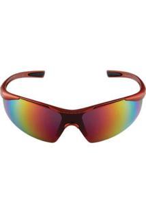 Óculos De Sol Khatto Run Esportivo Masculino - Masculino-Laranja