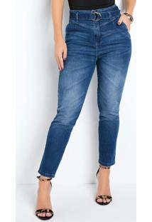 Calça Mom Jeans Sawary Com Cinto Grátis