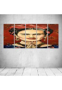 Quadro Decorativo - Frida (4) - Composto De 5 Quadros - Multicolorido - Dafiti