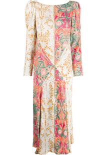 Liberty London Vestido Midi May Com Estampa Floral - Verde