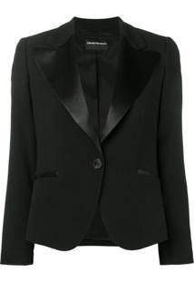 Emporio Armani Cady Jacket - Preto